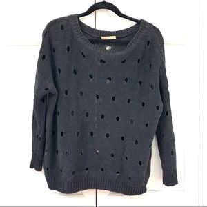 Sweaters - Black Holey Pullover Sweater